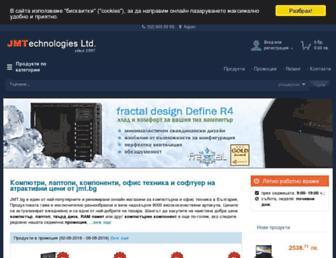 Main page screenshot of jmt.bg