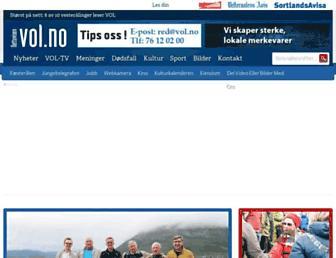 Main page screenshot of vol.no