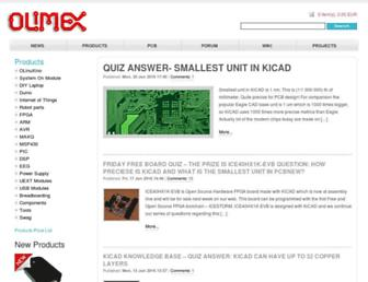 olimex.com screenshot