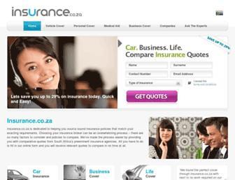 insurance.co.za screenshot