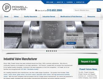 powellvalves.com screenshot