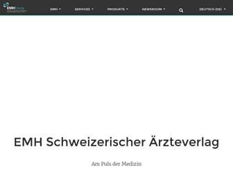 Main page screenshot of emh.ch