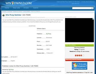 elite-proxy-switcher.win7dwnld.com screenshot