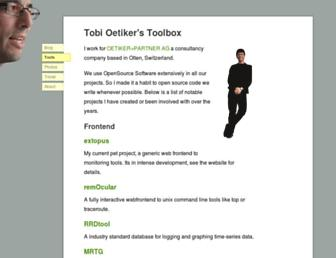 tobi.oetiker.ch screenshot