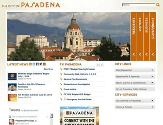 Thumbshot of Cityofpasadena.net
