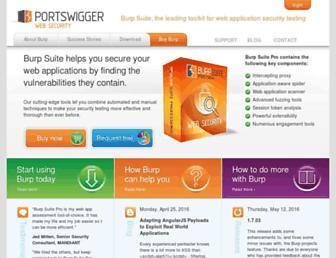 Main page screenshot of portswigger.net