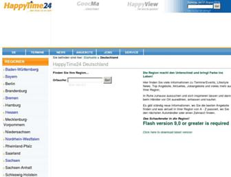 Main page screenshot of happytime24.de
