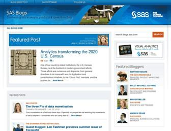 blogs.sas.com screenshot