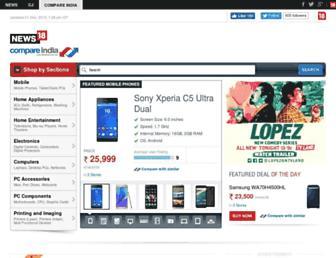 compareindia.news18.com screenshot
