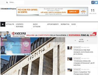 Main page screenshot of stranieriinitalia.it