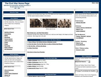 Main page screenshot of civil-war.net