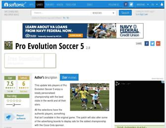 pro-evolution-soccer-5.en.softonic.com screenshot
