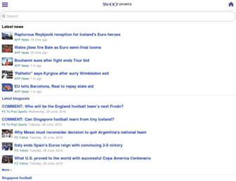 sg.sports.yahoo.com screenshot