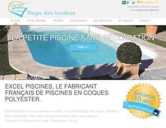 excel-piscines.com screenshot