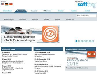 automotive.softing.com screenshot