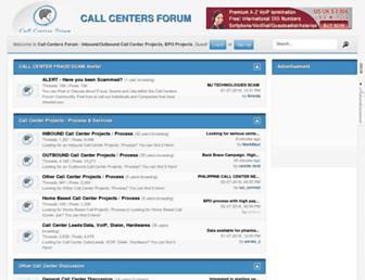 callcentersforum.com screenshot