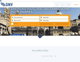Main page screenshot of gnv.it