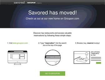 savored.com screenshot