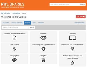 infoguides.rit.edu screenshot