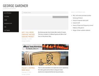 georgegardner.info screenshot