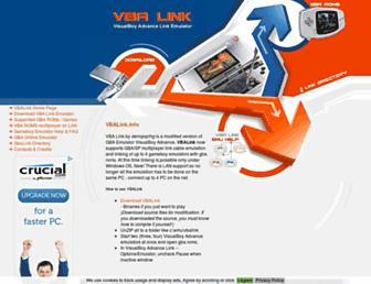 Main page screenshot of vbalink.info