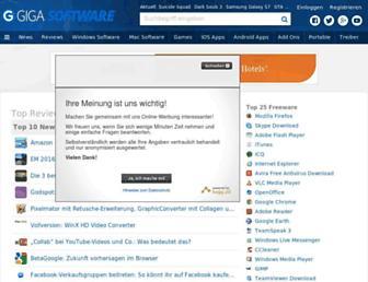 Main page screenshot of winload.de