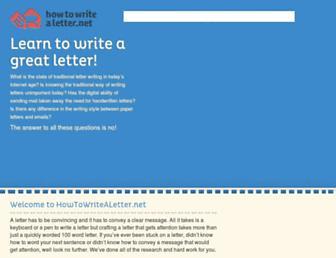 howtowritealetter.net screenshot