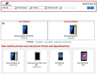 mobilewithprices.com screenshot