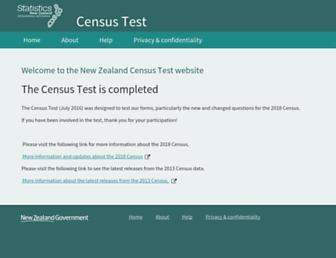 Thumbshot of Census.govt.nz