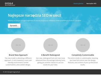 Main page screenshot of google-pagerank.pl