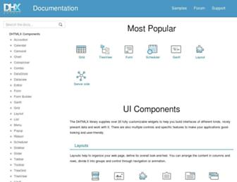 docs.dhtmlx.com screenshot
