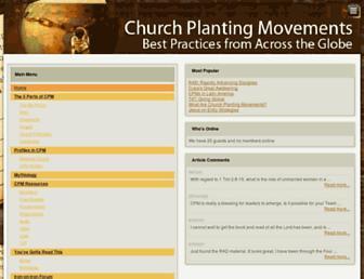 churchplantingmovements.com screenshot