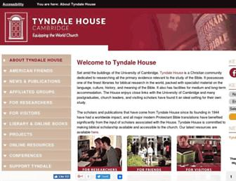 tyndale.cam.ac.uk screenshot