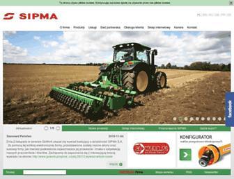Main page screenshot of sipma.pl