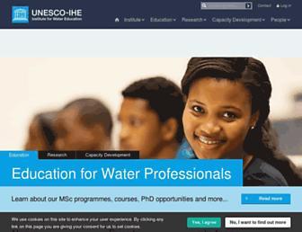 unesco-ihe.org screenshot
