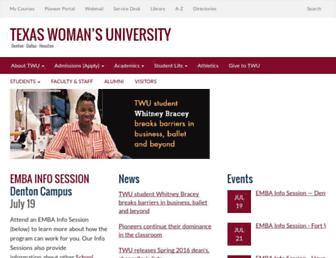 twu.edu screenshot