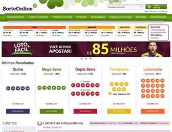 sorteonline.com.br screenshot