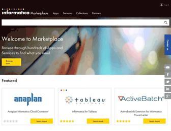 marketplace.informatica.com screenshot