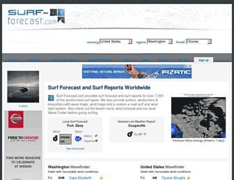 surf-forecast.com screenshot