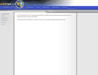 Main page screenshot of weball.hu