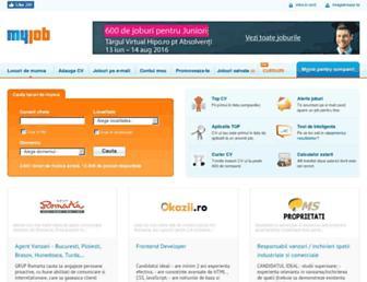 Main page screenshot of myjob.ro