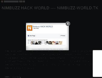 nimbuzz-hack-world.blogspot.com screenshot