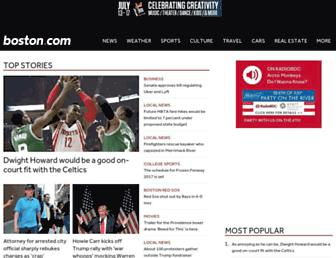 boston.com screenshot