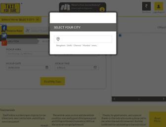 Thumbshot of Taxiforsure.com