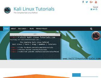 kalilinuxtutorials.com screenshot
