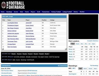 footballdb.com screenshot