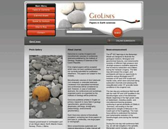 geolines.gli.cas.cz screenshot