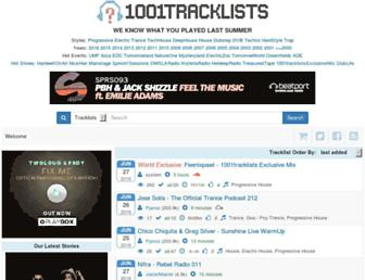 1001tracklists.com screenshot