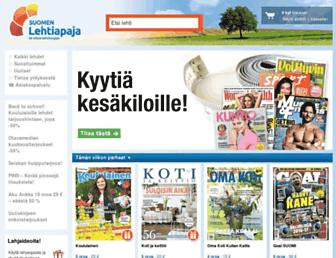 Main page screenshot of lehtiapaja.fi