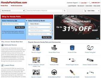 hondapartsnow.com screenshot